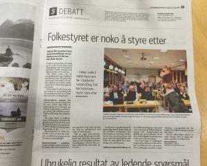 Faksimile frå Sunnmørsposten 24. mai 2016